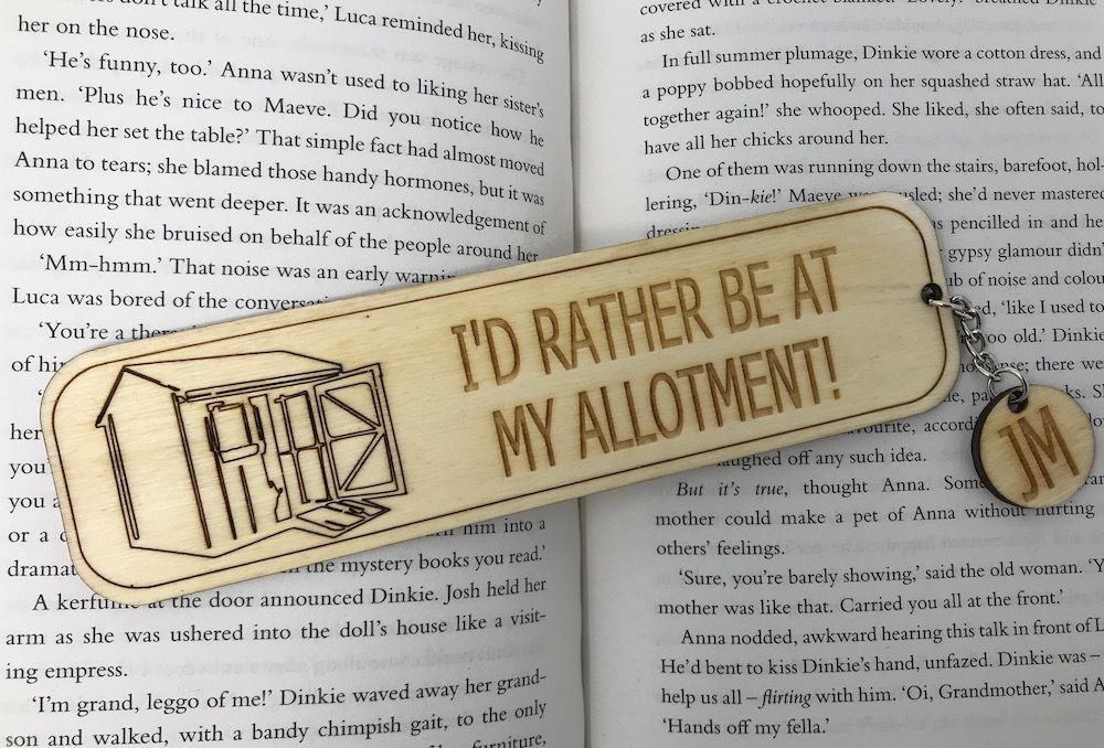 I'd Rather Be At My Allotment - Personalised Bookmark