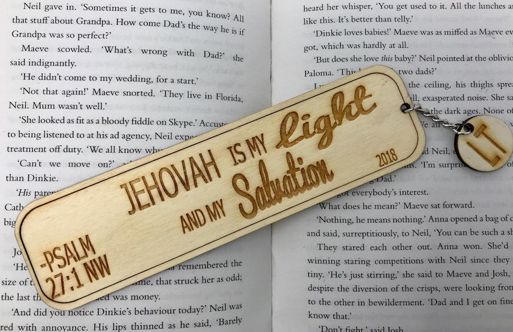 Jehovah Is My Light - Personalised Bookmark