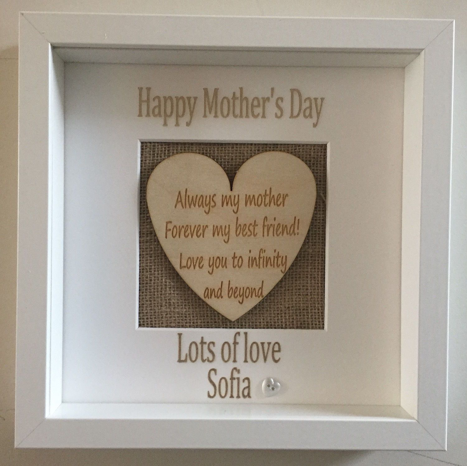 Personalised Heart Picture Boxed Frame Plaque For Mother s Day ...