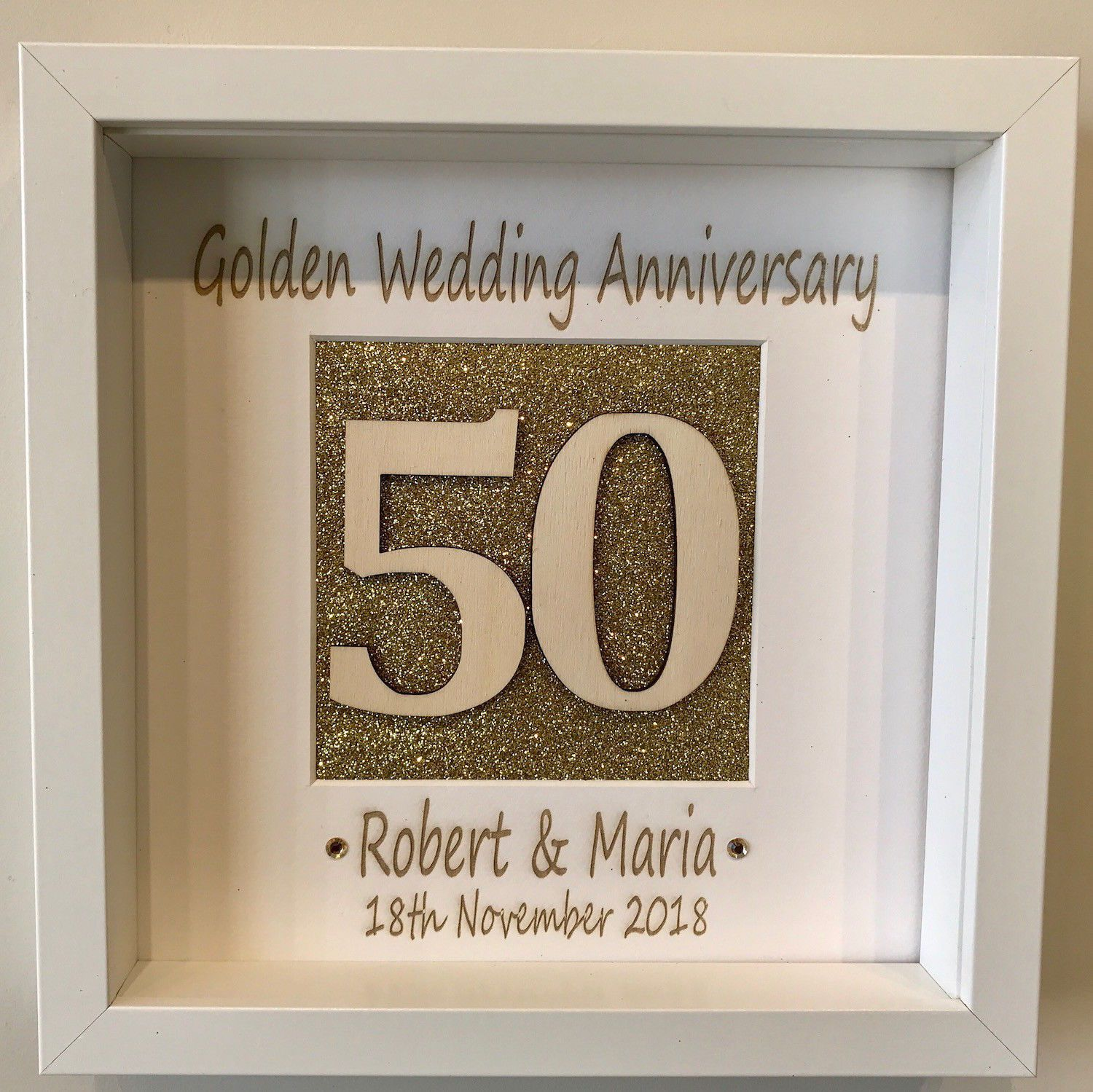 Golden Wedding Gift Ideas Uk: Golden Wedding Anniversary 50th Personalised Picture Gift