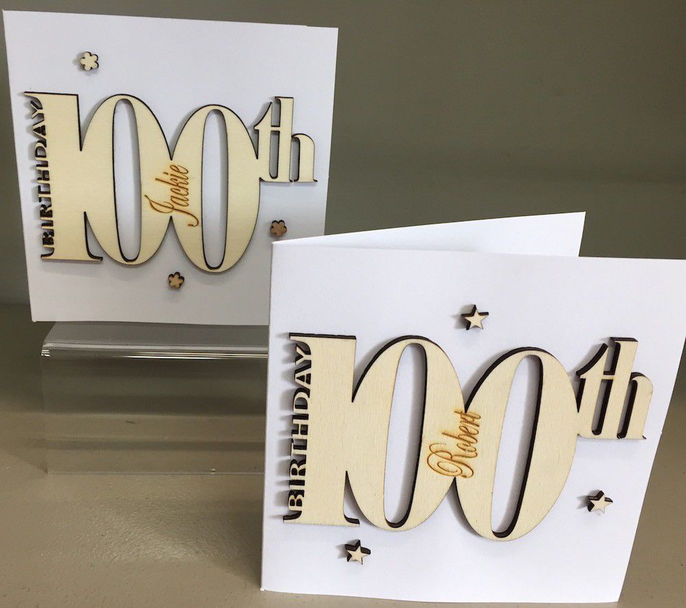 Personalised Keepsake Special 100th Birthday Card 223 P